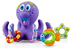 Nuby Octopus Hoopla Bathtime Fun Toys - Best Toys for 1 Year Old Girls