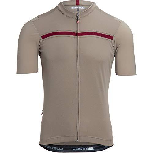 CASTELLI Unlimited Jersey Camiseta, Dark Sand/Bordeaux, XL para Hombre