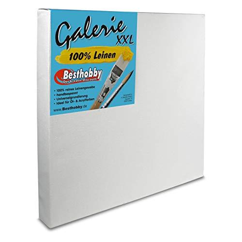 Bespannter Keilrahmen -Galerie XXL- 100% Leinen (60x80 cm) Leinwand Rahmen bespannt aus 100% Leinen