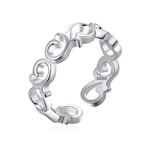 ChicSilver 5mm Bandkeltischer Knotenring Celtic Knot Ring aus 925 Sterling Silber schöne Verlobungsring als Braut Geschenke Brautjungfer-Geschenke