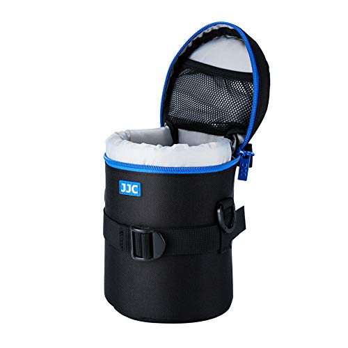 """JJC Deluxe Objektiv Tasche mit 1 x Umhängeband, Wasserabweisend, Schwarz, passt Objektiv Durchmesser und Höhe unter 100 x 182mm (3.9 x 7.2"""")"""
