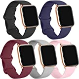 [5 Pack] Silicone Bands Compatible for