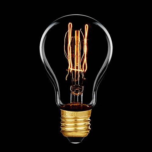 Glühbirne Rustika 33W E27 Vielfachwendel ähnl. Kohlefadenlampe Glühlampe A60 Retro 12 Aufhängungen extra warmweiß dimmbar