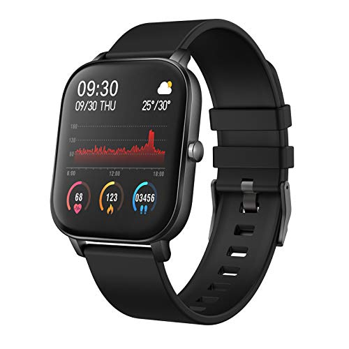 """YoYoFit Newest 1.4"""" Full Touch Screen Smart Watch Heart Rate Blood Pressure Sleep Monitor Fitness Activity Tracker Watch, Waterproof Fitness Smartwatch Compatible with iOS Android for Women Men"""