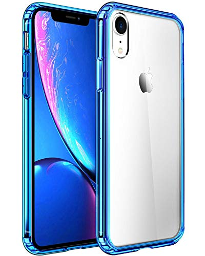 Mkeke Compatible with iPhone XR Case,Clear Cover for 6.1 Inch Blue