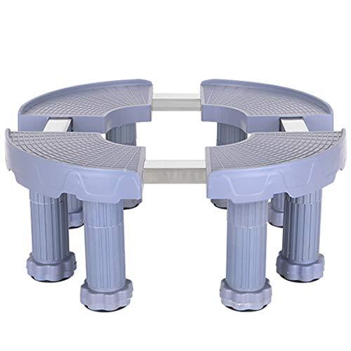 Mfnyp Basis voor airconditioning, verstelbaar, verticale houder, ter versteviging, meervoudig, voor bloemenkast, vaas (blauw), Achtzuilen, 19,22 cm