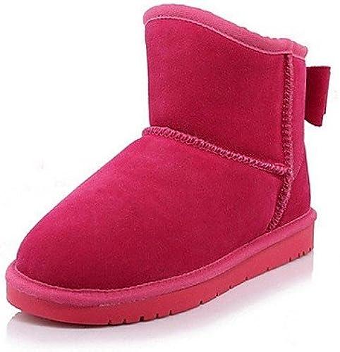 XZZ  Chaussures Femme - Extérieure    Décontracté - Noir   Bleu   Jaune   Violet   Rouge - Plateforme - Bottes de Neige   Bout Arrondi - Bottes  acheter en ligne