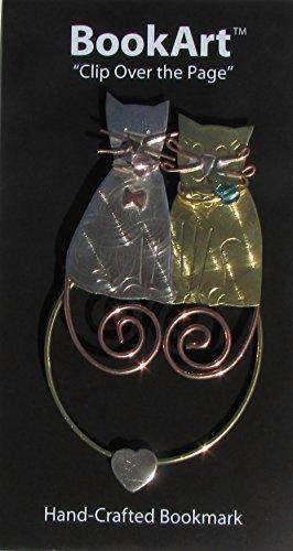 Beautiful Metal Bookmarks - BookArt Cat Bookmark - Best Gifts & Stocking Stuffers for Men Women Teachers & Librarians!