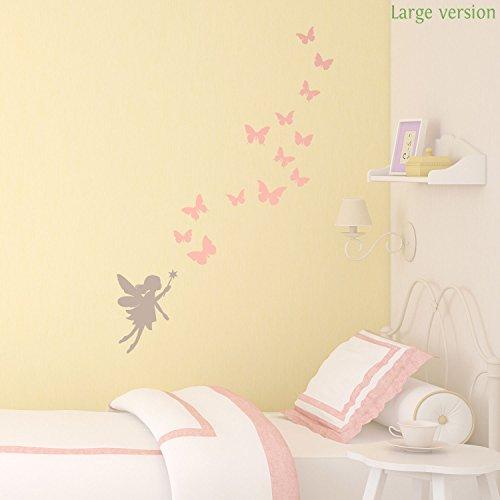 Fate e farfalle parete sticker da Stickerscape (Confezione large)