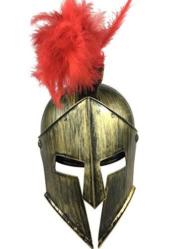 LuxTri Römer – Casco espartano   Casco de Sparta   Casco Larp de plástico con adorno para la cabeza   Disfraz de ladrones   Guerrero   Drachentöter   Combatidor   Gnomos   Carnaval   Hannibal