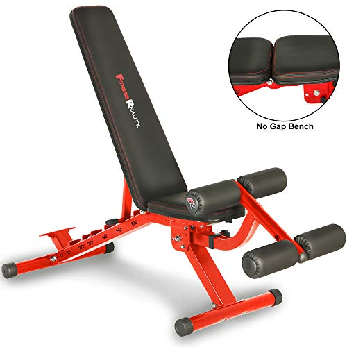 Fitness Reality 2000 Super Max XL High Capacity NO GAP Weight Bench with Detachable Leg Lock-Down,...