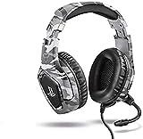 Trust Gaming Cascos PS4 y PS5 Auriculares de Gaming GXT 488 Forze-G, Licencia Oficial para PlayStation, Micrófono Plegable, Altavoces Activos de 50 mm, Cable Trenzado de Nailon de 1.2 m, Gris