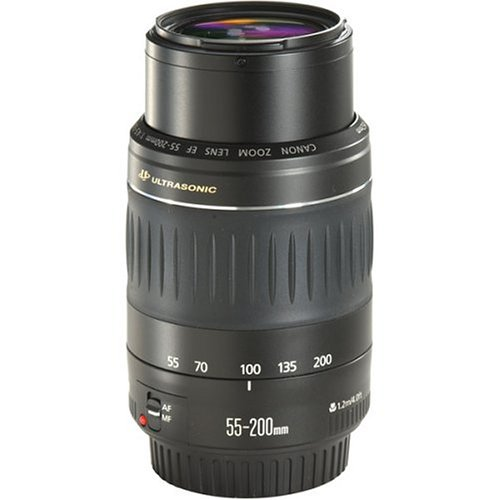 Canon EF 55-200mm f/4.5-5.6 II USM Telephoto Lens for Canon EOS SLR Cameras