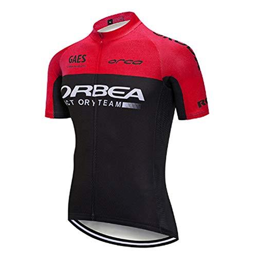 Fahrradbekleidung Herren Kurzarm Fahrradtrikot Mountainbike Trikot MTB Bike Shirts Feuchtigkeitsableitendes T-Shirt