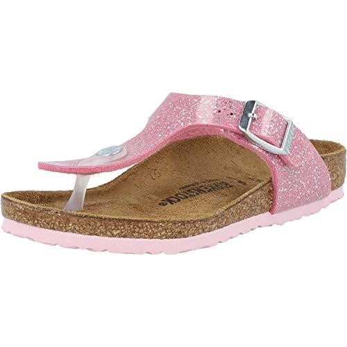 BIRKENSTOCK Gizeh Kids Rosa (Cosmic Sparkle Candy Pink) Birko-Flor 34 EU