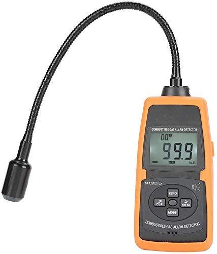 ZGYQGOO Erdgasdetektor, empfindlicher Sensordetektor Tragbares LCD HD Hintergrundbeleuchtetes digitales brennbares Gasleck Akustisches Alarmtester-Messgerät