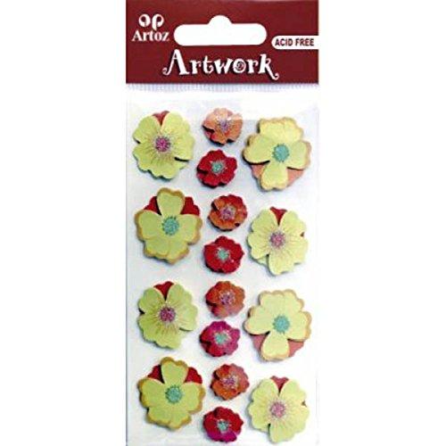 Oranje Geel Bloemen Craft Versiering Bloemen Of Decoratieve Kaart Topper Scrapbooking Stickers