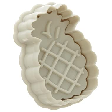 Ateco 1982 Pineapple Plunger Cutters, for Cutting Decorations & Direct Embossing, Spring-loaded Handle, Food Safe Plastic