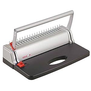 Genie CB 800 - Encuadernadora (hasta 145 páginas, DIN A4, incluye juegos de canutillos de plástico), color plateado y negro