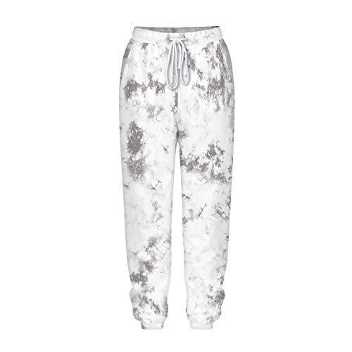 Pantalones Jogger con Estampado Tie Dye para Mujer, Morbuy Hippies Cintura Alta...