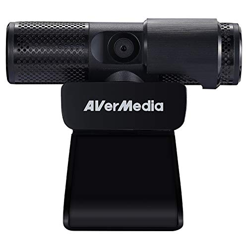 AVerMedia Live Streamer CAM 313: Full HD 1080P Streaming Webcam, persiana de privacidad, micrófono doble, diseño giratorio de 360 grados, exclusivo AI Facial Tracking Stickers. (PW313)