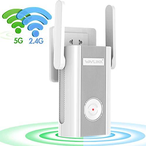 WAVLINK AC1200 WLAN Repeater/WLAN Verstärker (Dual-WLAN AC+N, 5GHz / 867 Mbit/s und 2.4 GHz / 300 Mbit/s)/Erweitern Sie den Netzwerk Reichweite/intelligenter LED Licht/App Steuerung (575A4)