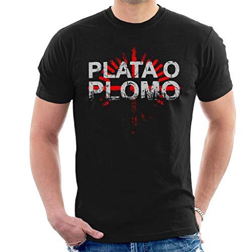 longring Narcos Plata O Plomo Pablo Escobar Men's T-Shirt