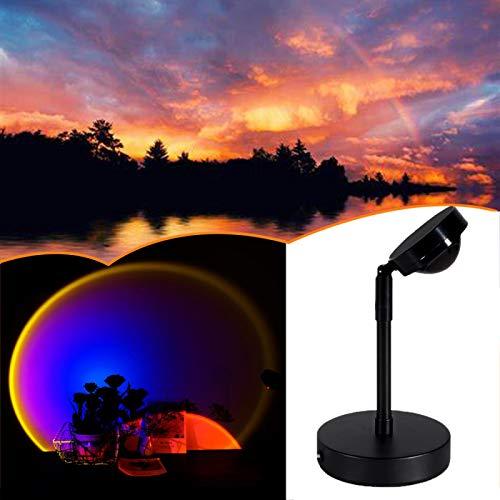 Luz LED de proyección al atardecer, Iluminación del piso de proyección de la puesta del sol del arco iris, Uso para el regalo...