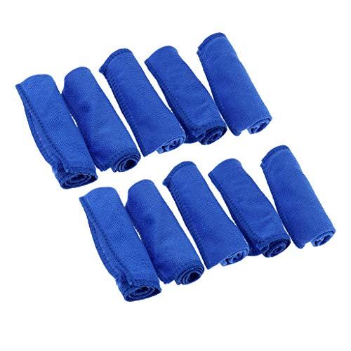 sharprepublic Toalla de Microfibra de Secado Rápido de 10 Piezas para El Paño de Limpieza del Hogar de La Bicicleta del Coche