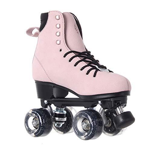 Luna Skates Quad Roller Figur Rollschuhe (Moon Rose rosa, EU38 / UK5 / US 7.5 / 24.6cm)