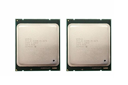 Intel Matching Pair Xeon E5-2670 Eight Cores Processors 2.60GHz 20MB Smart Cache 8.00 GT/S QPI TDP 115W SR0KX BX80621E52670
