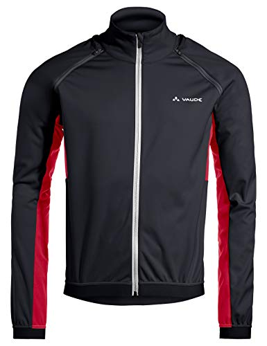 VAUDE Herren Brocon ZO Softshell Jacke, Black/red, XXXL
