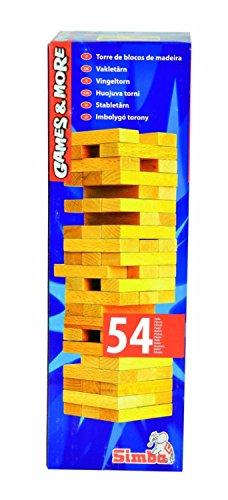 Simba 106125033 - Games & More, Holz-Wackelturm