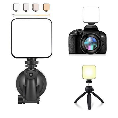 Luce per Videoconferenza, Kit Luci Da Conferenza Luminosità Regolabile Illuminazione con Ventosa luce della fotocamera con mini treppiede per Meeting Zoom, Remote Work, Live Streaming
