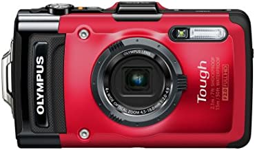 Olympus Stylus TG-2 iHS Digital Camera with 4x Optical Zoom and 3-Inch LCD (Red) (Old Model)