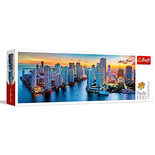 Puzzle Panorama Miami o zmroku 1000