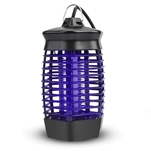 Lámpara Anti Mosquitos, 4W UV Repelente de Mosquitos, Trampas para Insectos Mosquito, Electrico Antimosquitos, Killer para Mata Mosquitos, Lámpara de Mosquitos para Interior Hogar Jardín Casa Terraza