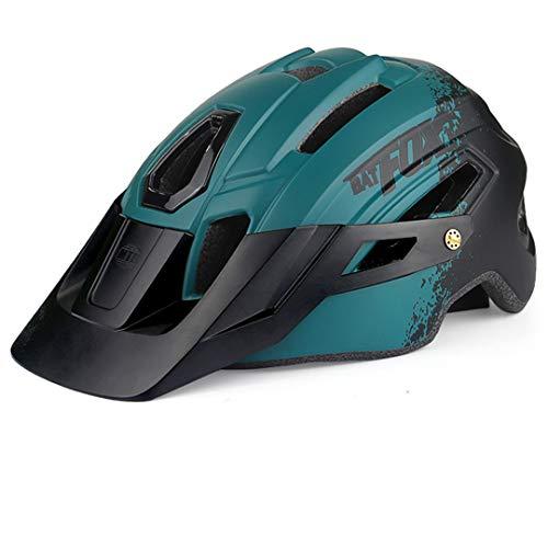 Montaña Bicicleta Camuflaje Casco MTB Bicicleta de Carretera Casco Sombrero de ala...