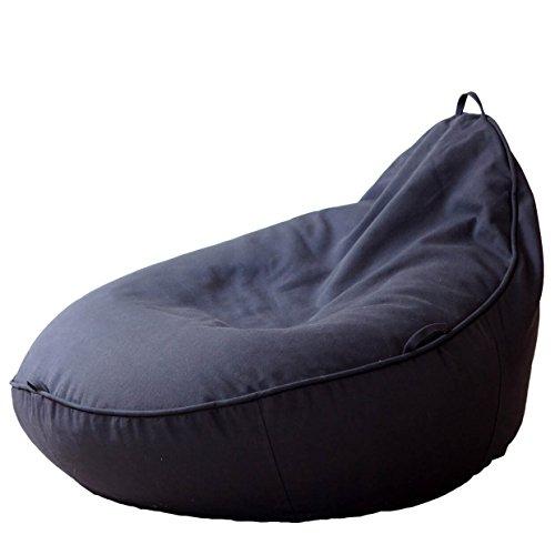 Baby-Sitzsack Baby EcoEgg® mit Bio Dinkelspelz Füllung, hochwertig, ergonomisch (anthrazit)