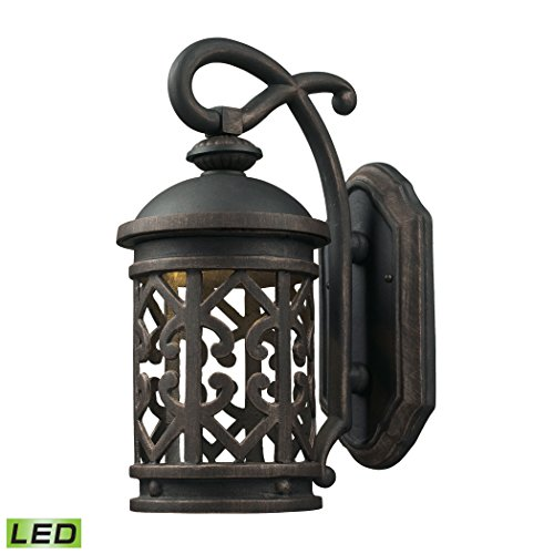 Cornerstone Lighting 7201EW/71-LED Tuscany Coast - LED 1 Light Exterior Wall Mount, Weathered Charcoal