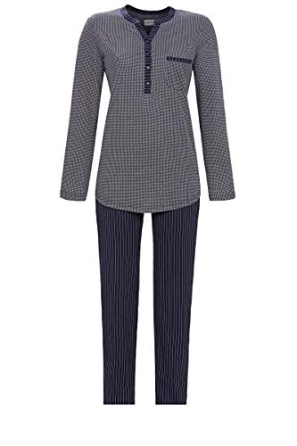 Ringella Damen Pyjama mit Knopfleiste Night 50 1511217,Night, 50