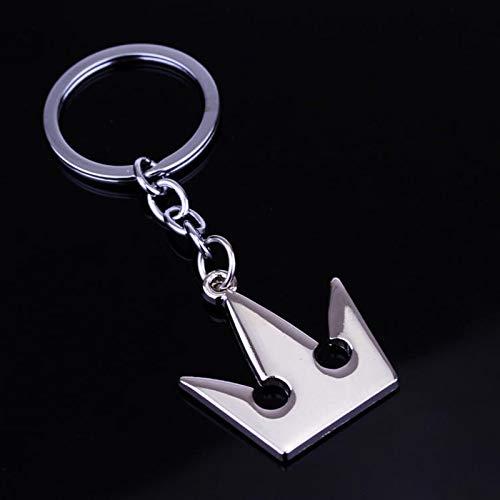 YTO Collana con Corona di Kingdom Hearts, Portachiavi, Ciondolo in Metallo(Color:Keychain)