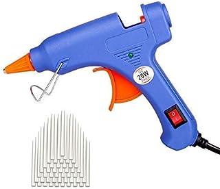 Upgraded Mini Hot Melt Glue Gun with 50pcs Glue Sticks,Removable Anti-hot Cover Glue Gun Kit with Flexible Trigger for DIY...