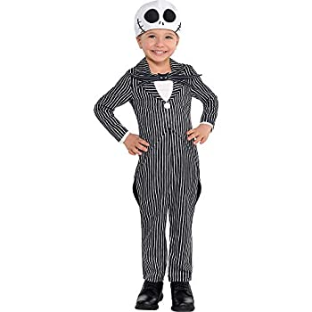 Suit Yourself Jack Skellington Halloween Costume for Toddlers The Nightmare Before Christmas 3-4T Includes Jumpsuit