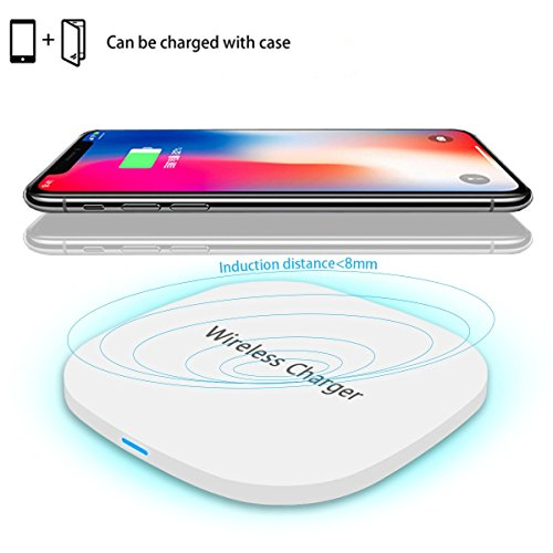 Wireless Charger,TENNBOO Qi-Certified 7.5W Wireless Charging Compatible with iPhone Xs MAX/XR/XS/X/8/8 Plus,10W Compatible Galaxy Note 9/S9/S9 Plus/Note 8/S8,5W All Qi-Enabled...
