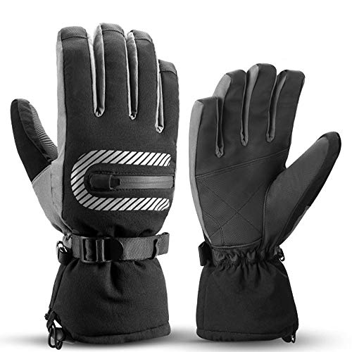 XMSIA Protection Gloves Mens Cycling Gloves Bike Bicycle Gloves Mountain Road Bicycle Warm Cold Weather Padded Outdoor Sports, Cycling, Mountaineering Men and Wo (Color : Black, Size : L)