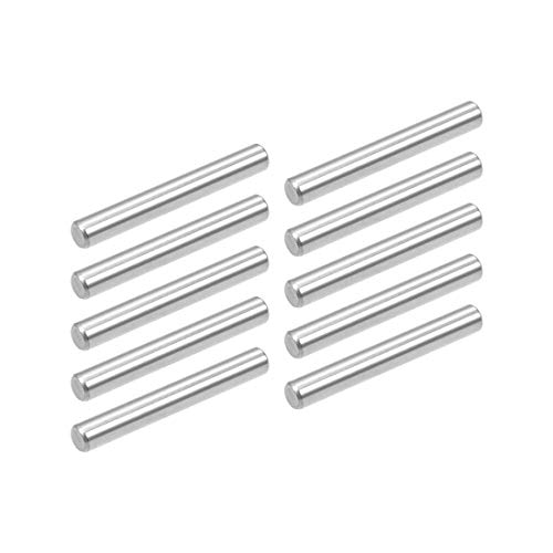 uxcell 10Pcs 4mm x 30mm Dowel Pin 304 Stainless Steel Wood Bunk Bed Dowel Pins Shelf Pegs Support Shelves Silver Tone