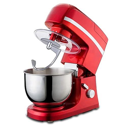 MOSHUO Batidora de pie en la Cocina Máquina Multifuncional de Acero Inoxidable con Cabezal inclinable 5L Batidora de Huevos, Amasadora, Picadora de café/Carne, Licuadora de Jugo, Rojo .R