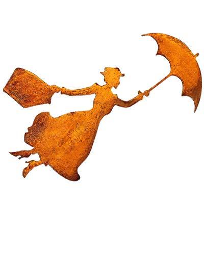 Bornhöft Mary Poppins Metall Rost Gartendeko Edelrost rostiger zum hängen