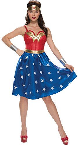 Rubie's DC Comics Wonder Woman Classic Costume with Dress, Belt, Gauntlets and Tiara